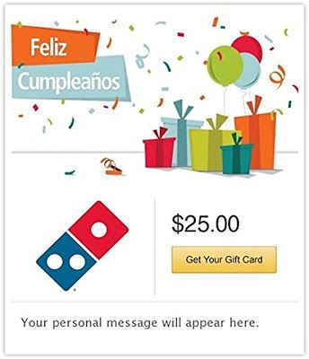 Photo of FREE Dominos  Pizza Email Gift Card