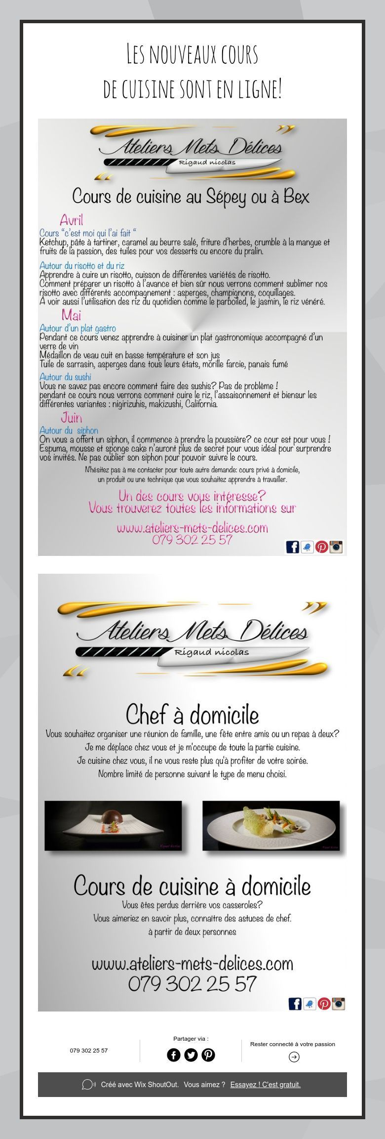 Ateliers Mets Delices Ateliersmetsdel Sur Pinterest