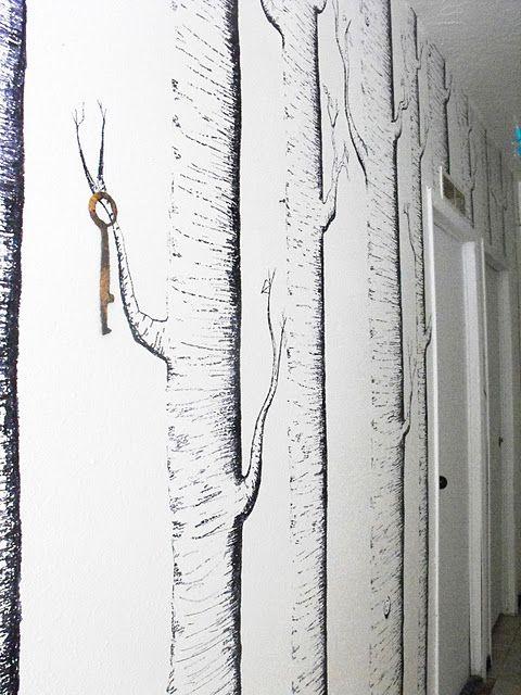 Ah-MAZING Sharpie Marker Woodland Mural. http://www.craftylittlegnome.com/