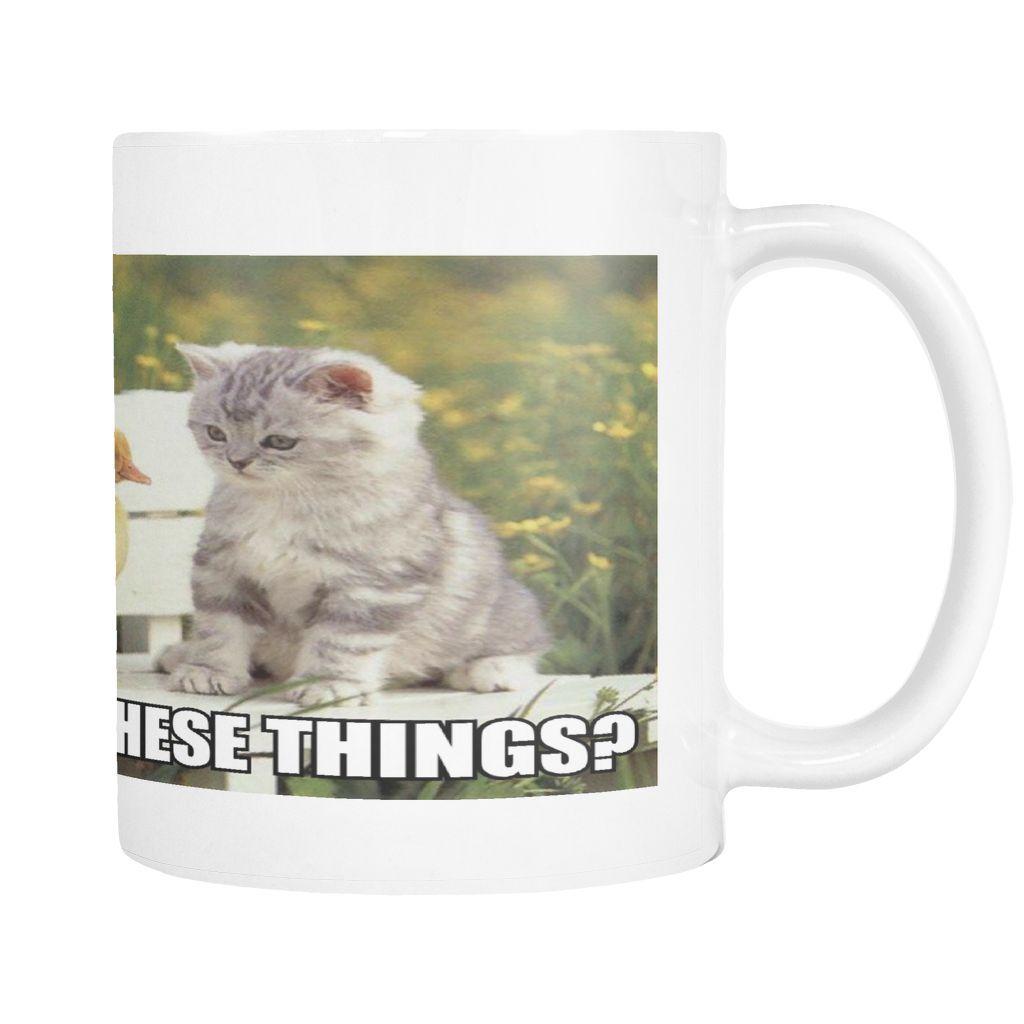 Cute Cat And Ducks On 11 Ounce Coffee Mug Mugs Cute Cat Coffee Mugs