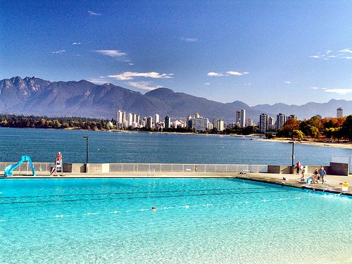 Vancouver 39 s outdoor pool in kitsilano beautiful west - West vancouver swimming pool schedule ...