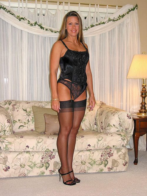 Milf black stockings