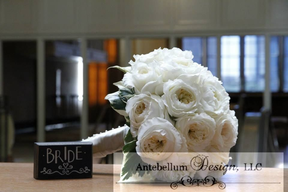 Cream Bouquet Made With Wedding Flowers Like Garden Roses Dallas By AntebellumDesign