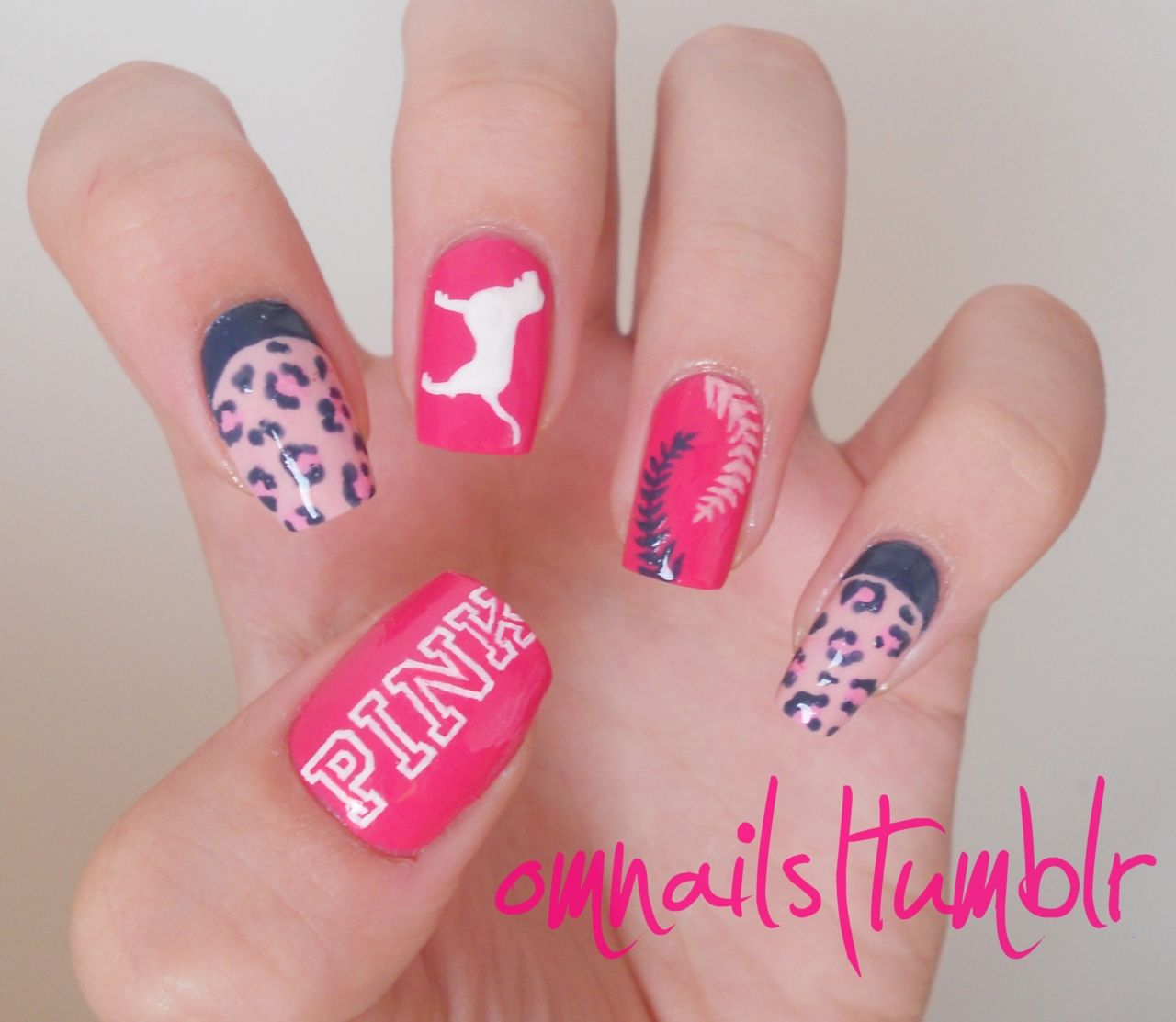 Today S Daily Nail Art Is This Victoria Secret Pink Nation Design By Omnails