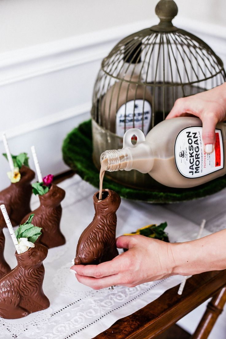 Easter Cocktails - Two Ingredient Chocolate Bunny Cocktails