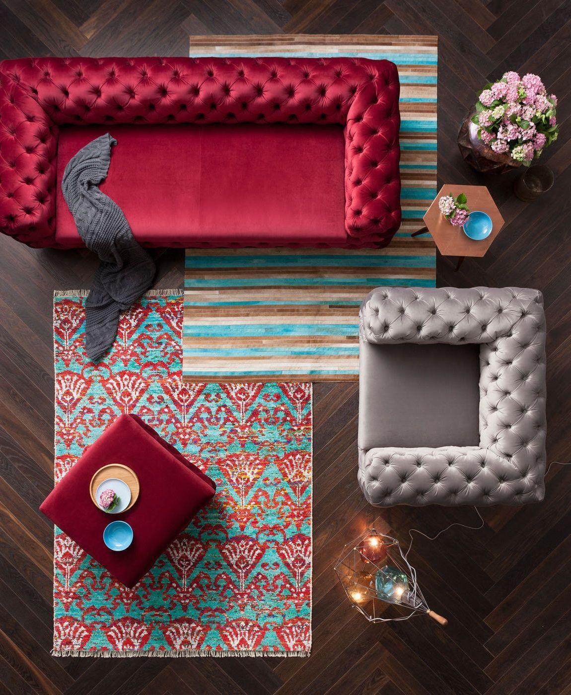Kare Design Bank My Desire 3 Zits Fluweel Rood
