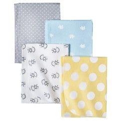Circo® Monkeys n Dots 4pk Receiving Blanket