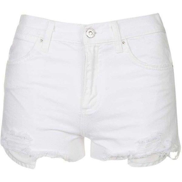 TopShop Moto White Rosa Denim Short (335 SEK) ❤ liked on Polyvore ...