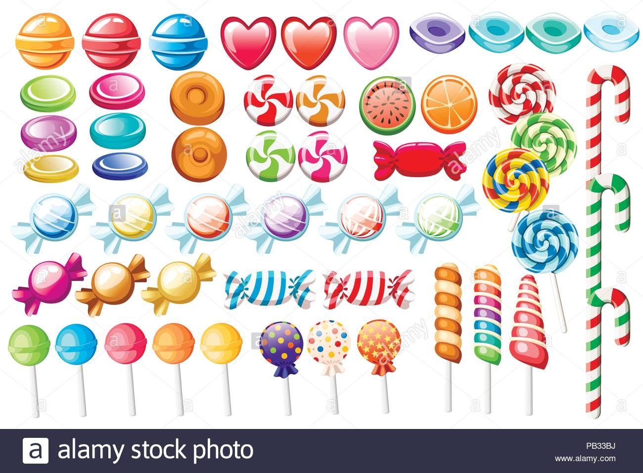 Descargar Este Vector Caramelos Gran Coleccion De Diferentes Dulces De Estilo De Dibujos Animados Envuelto Y N Estilos De Dibujo Caramelos Dibujos Caramelos