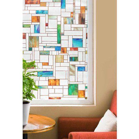 Artscape 24 Inch X 36 Melange Decorative Window Film Multicolor