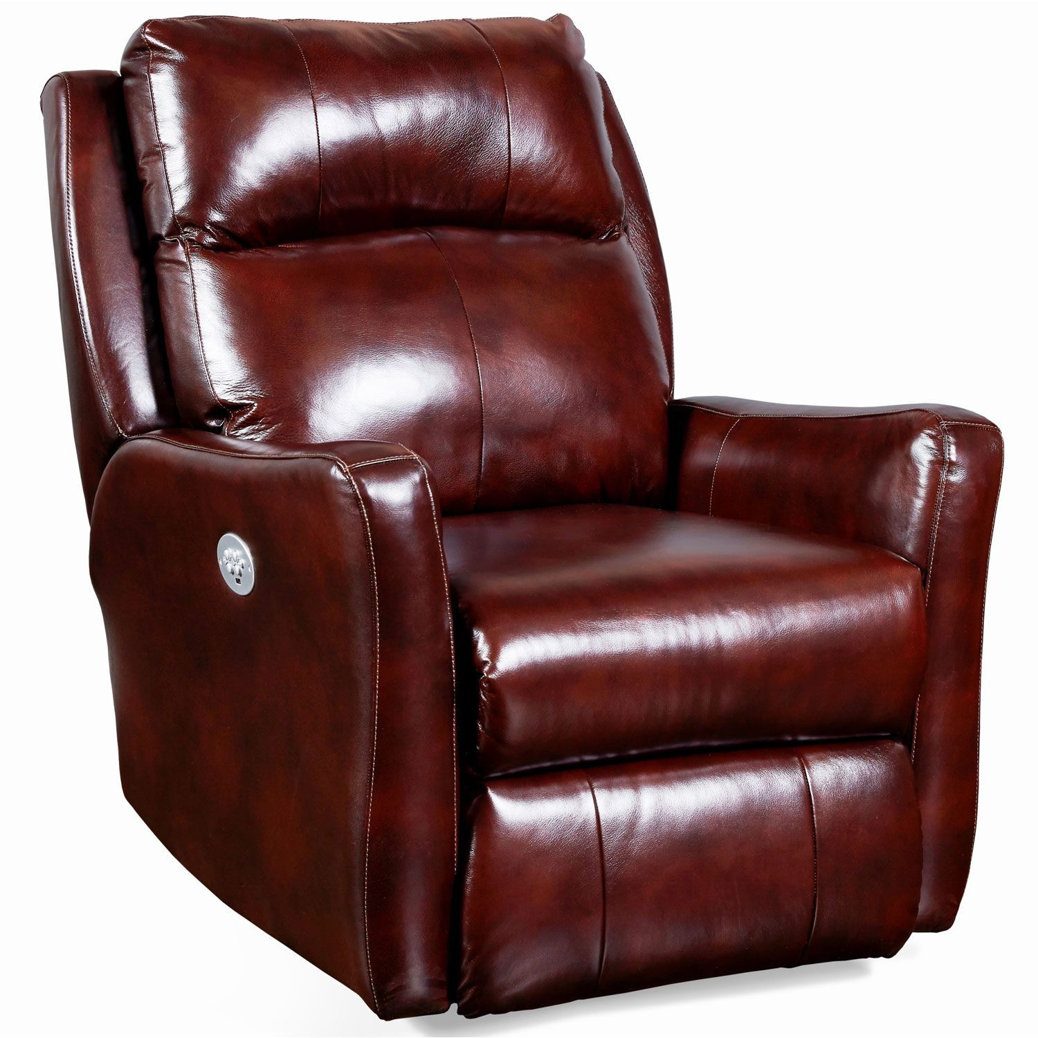 Southern Motion 6313p 906 23 Top Notch Power Headrest Wall Hugger Recliner Brown Leather Wall Hugger Recliners Southern Motion Recliner