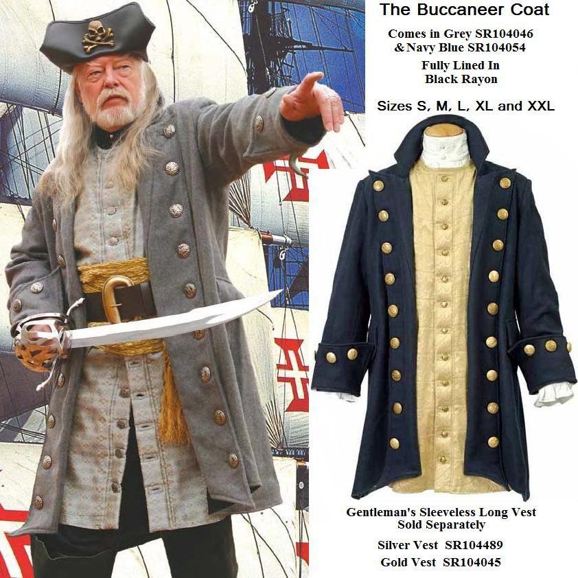 b6915a83 Buccaneer Pirate Coat. DIY inspiration add buttons   Halloween ...
