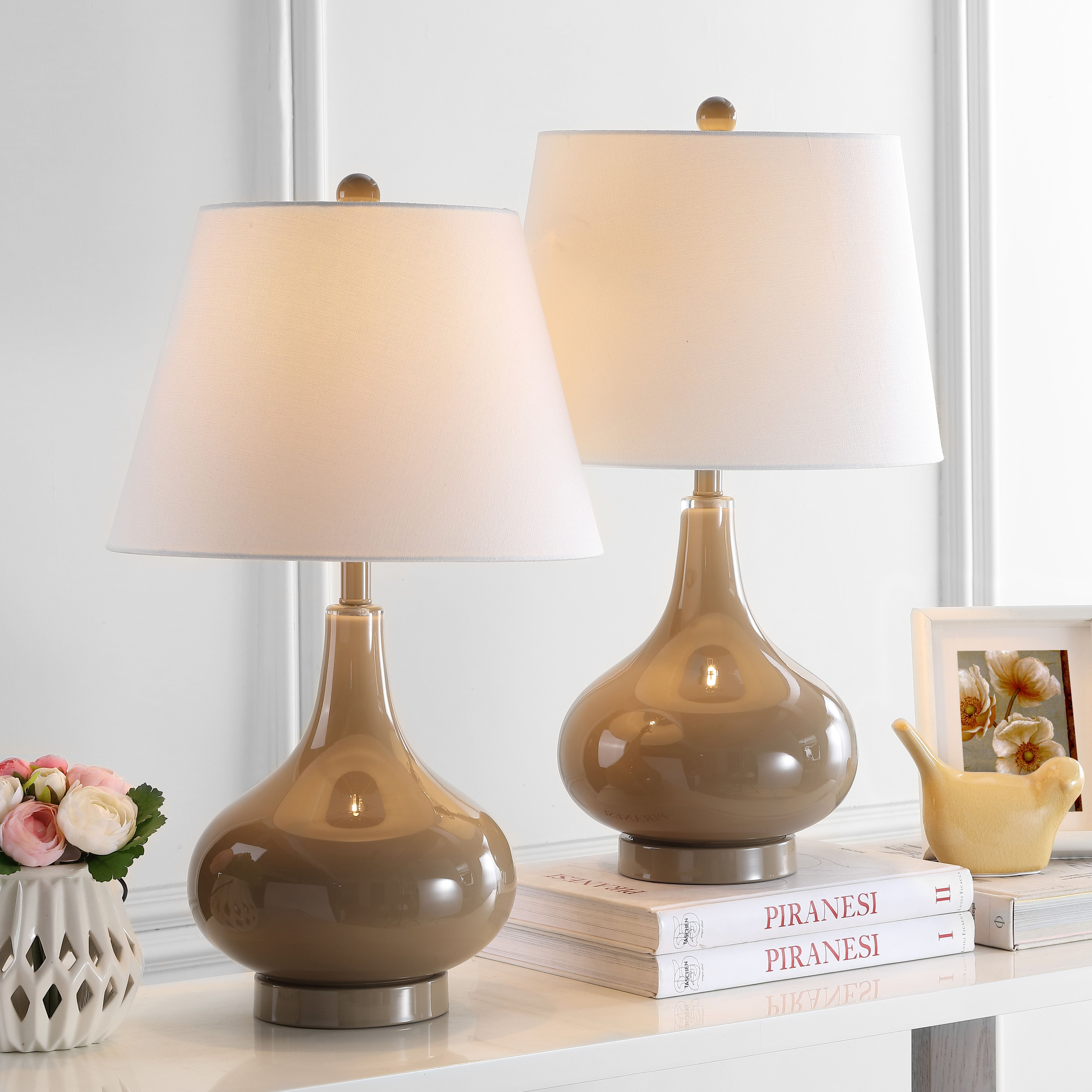 Hashtag Home Bridger 24 Table Lamp Set Wayfair Lamp Lamp Sets Glass Lamp