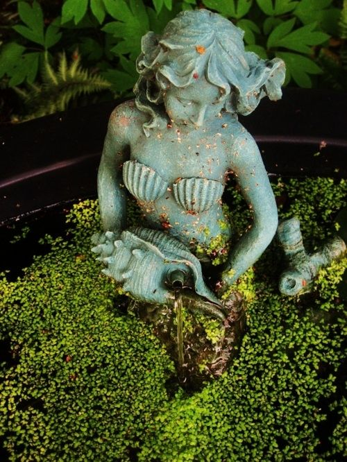 Garden Sculpture · Landscaping With A Mermaid? A Certain Little Girl Would  Be Overjoyed!