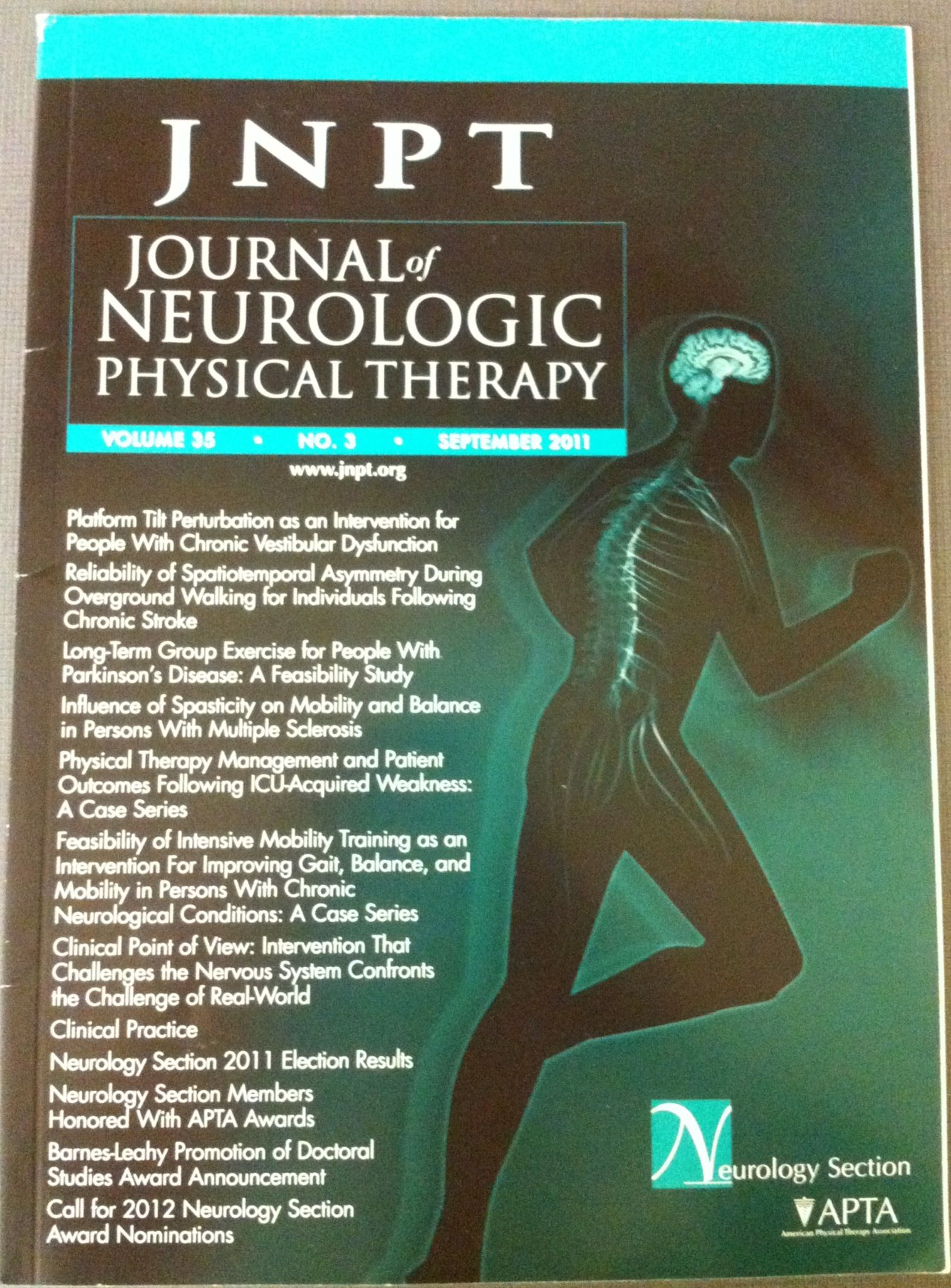 American physical therapy - American Physical Therapy Association Journal Of Neurologic Physical Therapy