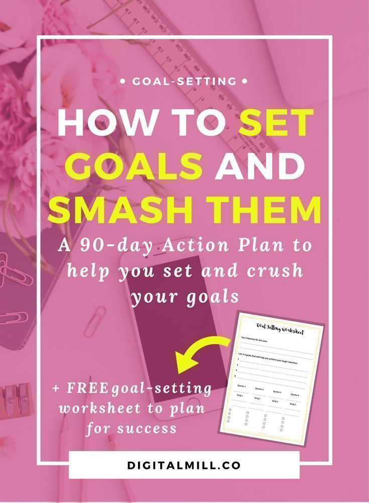 The Secret To Setting Goals Youu0027ll Actually Achieve (+ Free - action plan work sheet