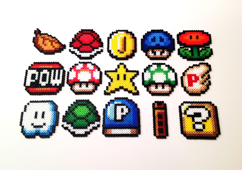 Super Mario Bros 3 Items Perler Bead Mario Bead Sprite Perler