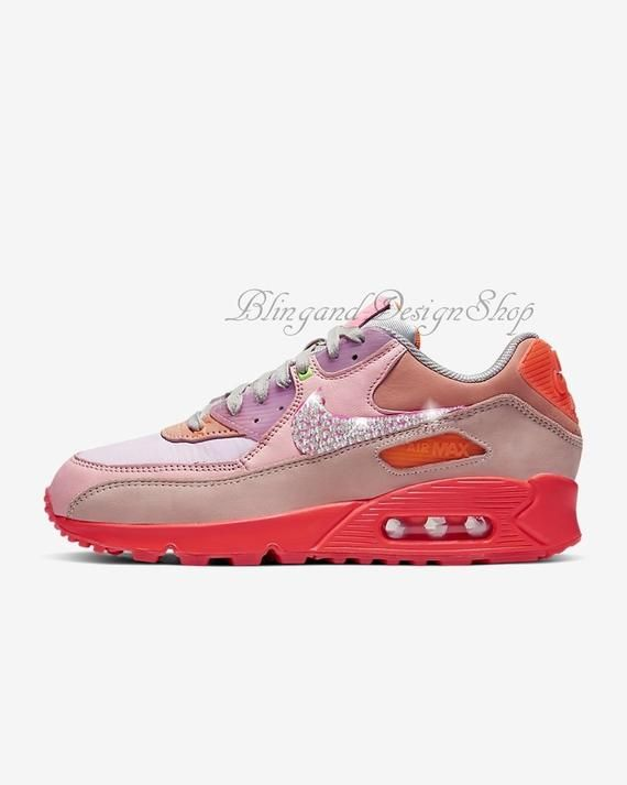 Swarovski Nike Shoes Pink Air Max 90 Customized with