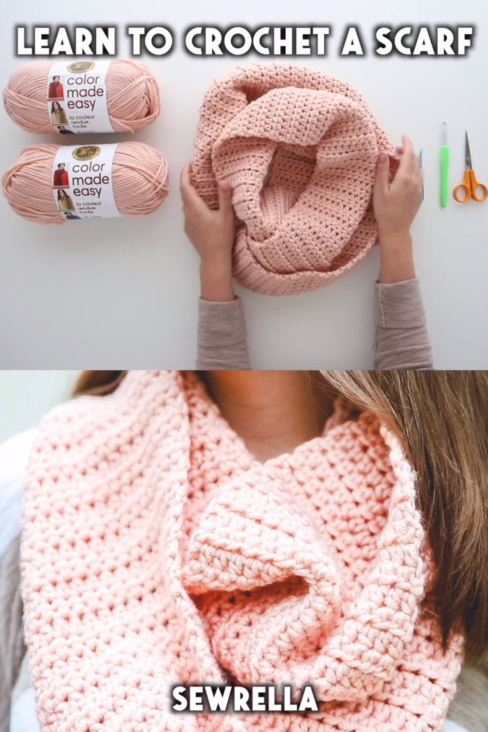 Learn to Crochet a Scarf - free pattern & video tutorial