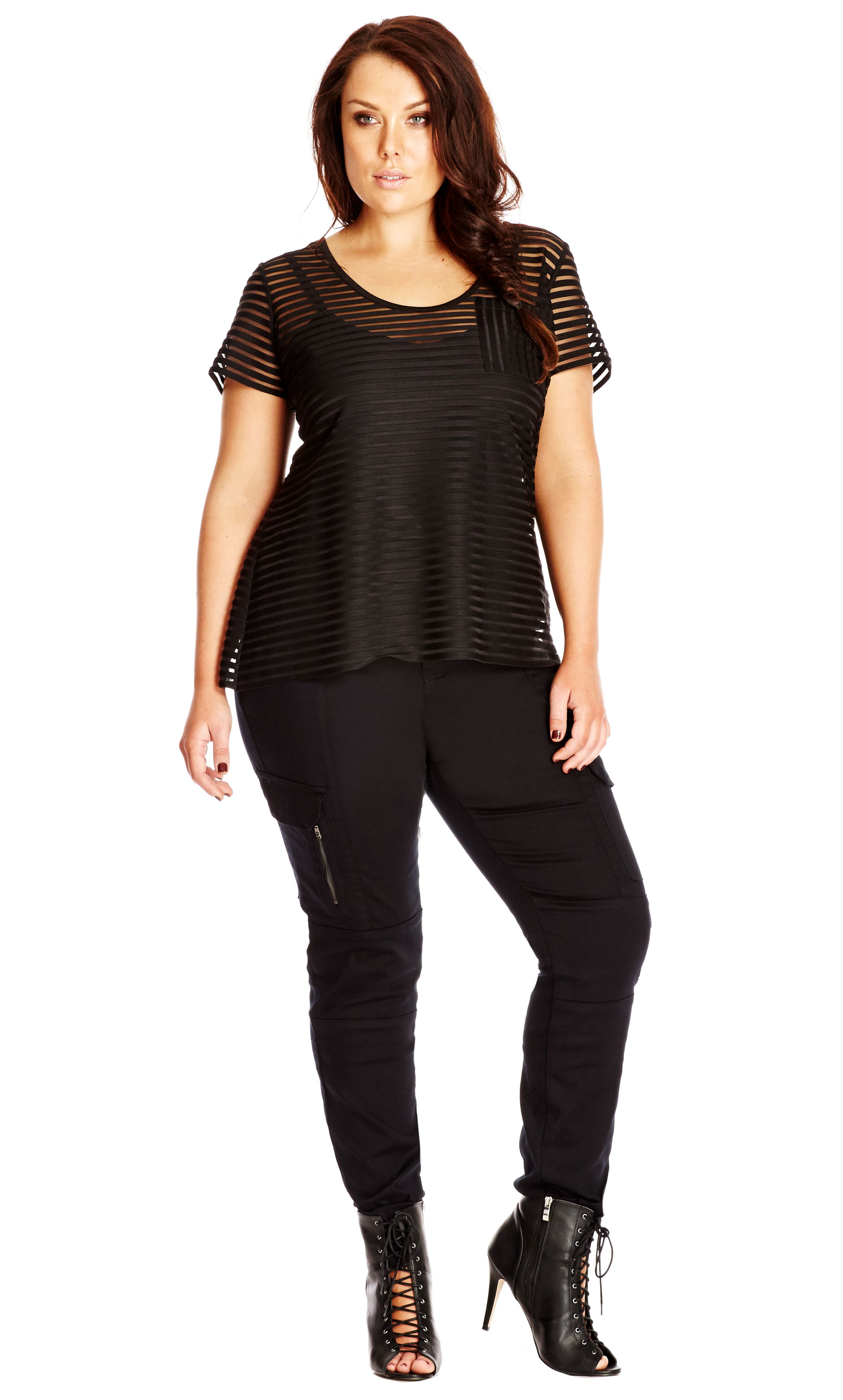 23cf34a2726 City Chic Black Cargo Pant - Women s Plus Size Fashion City Chic - City  Chic Your Leading Plus Size Fashion Destination  citychic  citychiconline  ...
