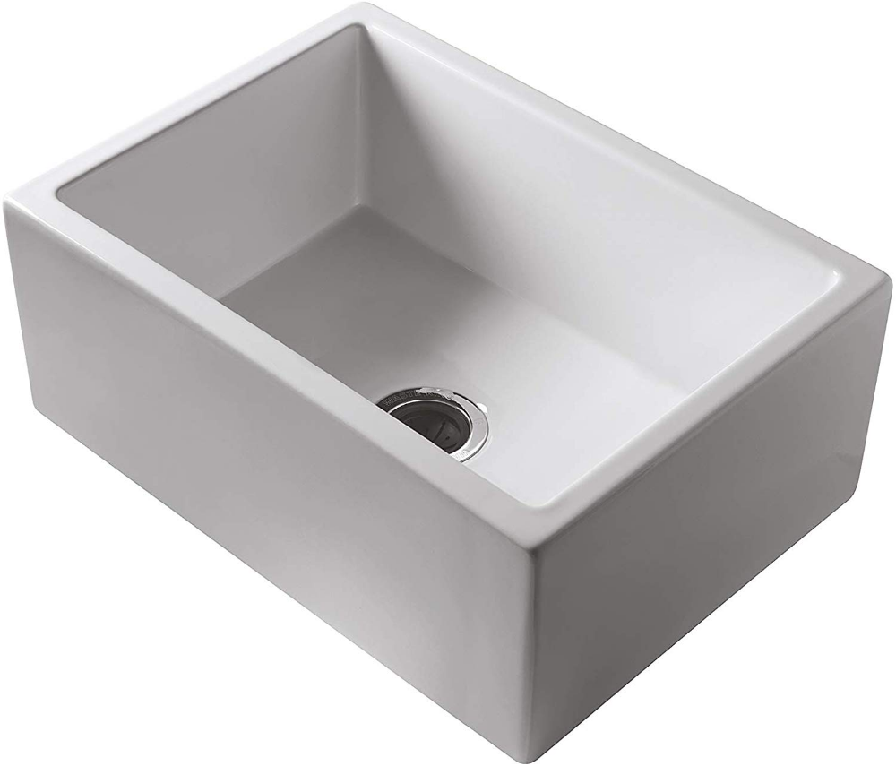 Rohl Rc2418wh Fireclay Kitchen Sinks 24 Inch By 18 Inch By 10 Inch White Farmhouse Sink Amazon Com Sink Farmhouse Sink Kitchen Rohl