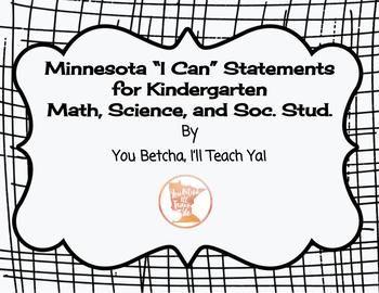 Kindergarten MN State Standards