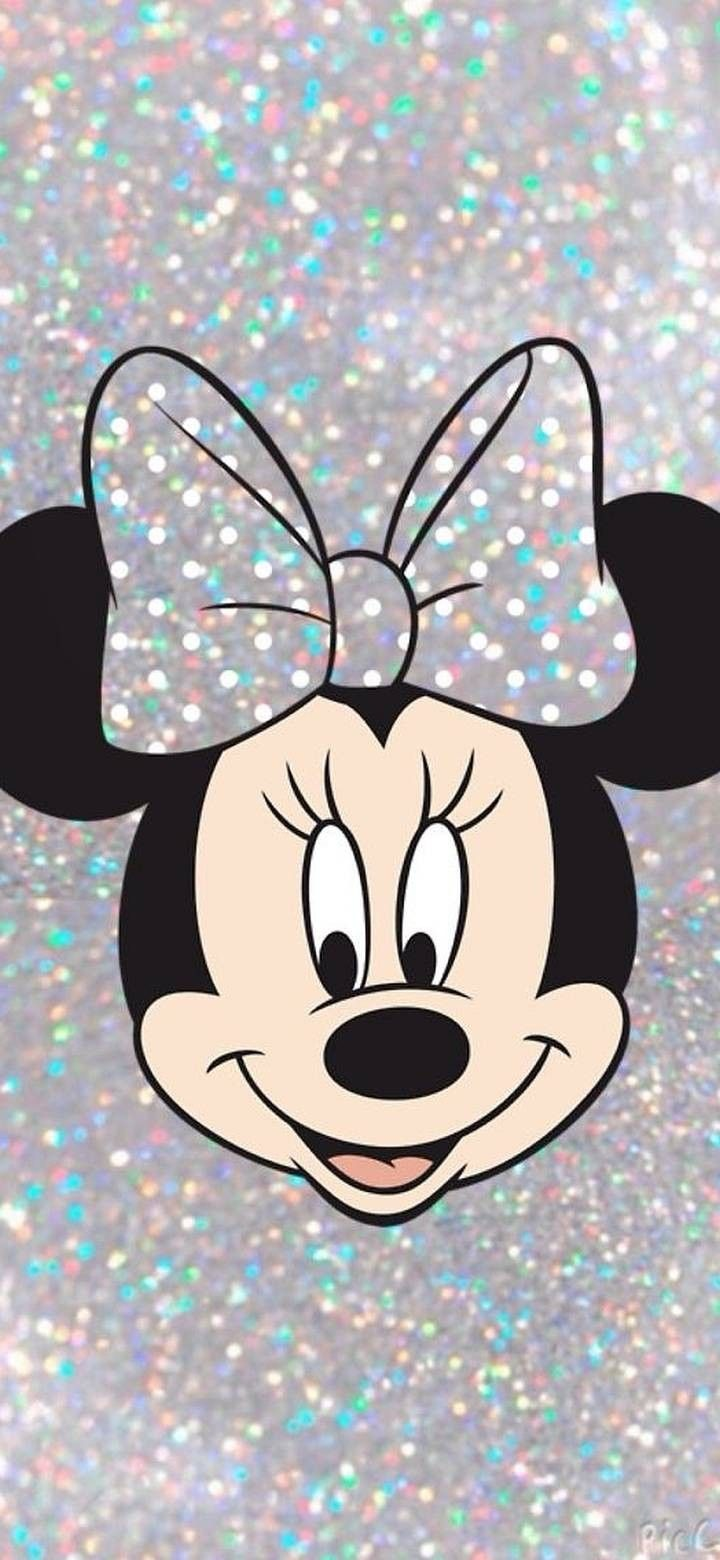 Glittery Minnie in 2020 Mickey mouse wallpaper, Disney