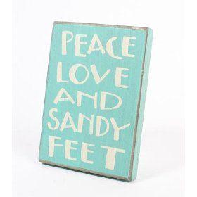 Peace, love, and sandy feet. #coastal