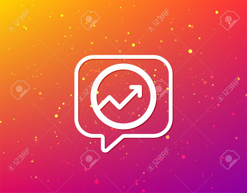 Growing Graph Icon Business Analytics Chart Symbol Soft Color Soft Colors Graphing Banner Printing