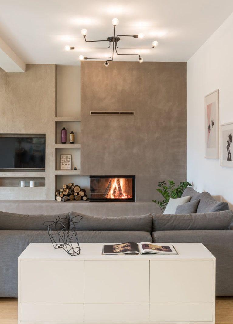 Sala Moderna Con Camino.Pin Di Catiana Marino Su Casa Arredamento Salotto Con