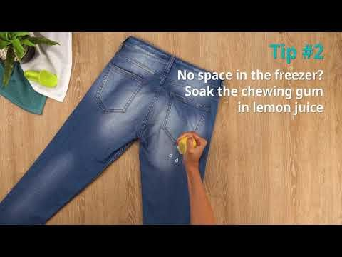 Remove chewing gum from your clothing? | Cleanipedia