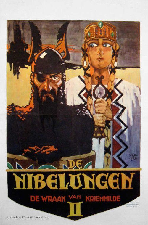 Die Nibelungen Kriemhild S Revenge 1924 Germany Original Movie Posters Fantasy Films Movie Posters