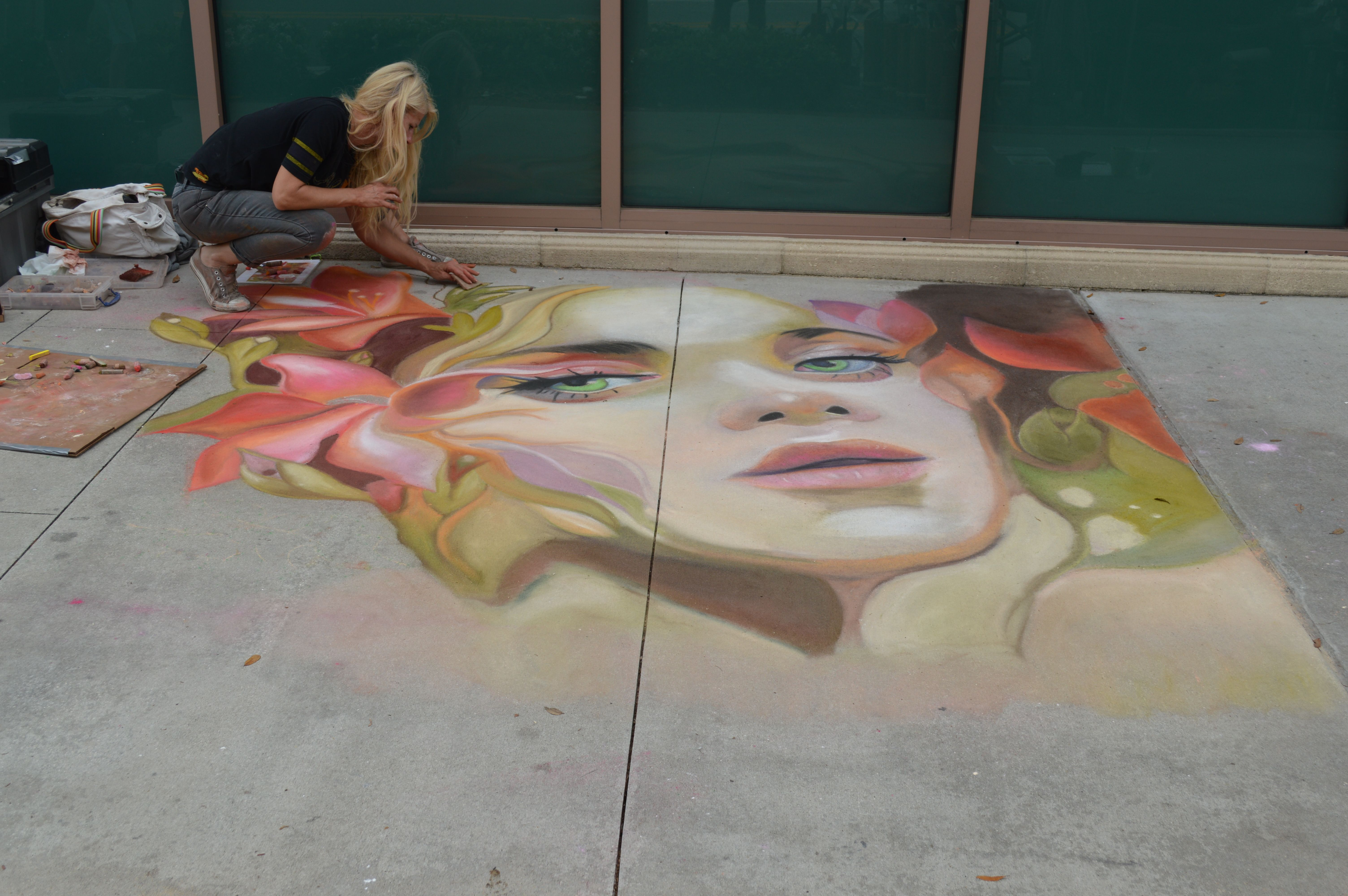 Annual Safety Harbor Chalk art festival 2 Chalk art