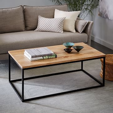 The Slim Profile Of The Box Frame Coffee Table Lets You Save Precious Space In Smaller Living Rooms And Bedrooms Coffee Table Loft Furniture Coffee Table Wood