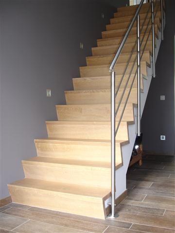 Cp trappen bekleden van trappen in beton trap pinterest trappen houten trap en trap - Gang met trap ...
