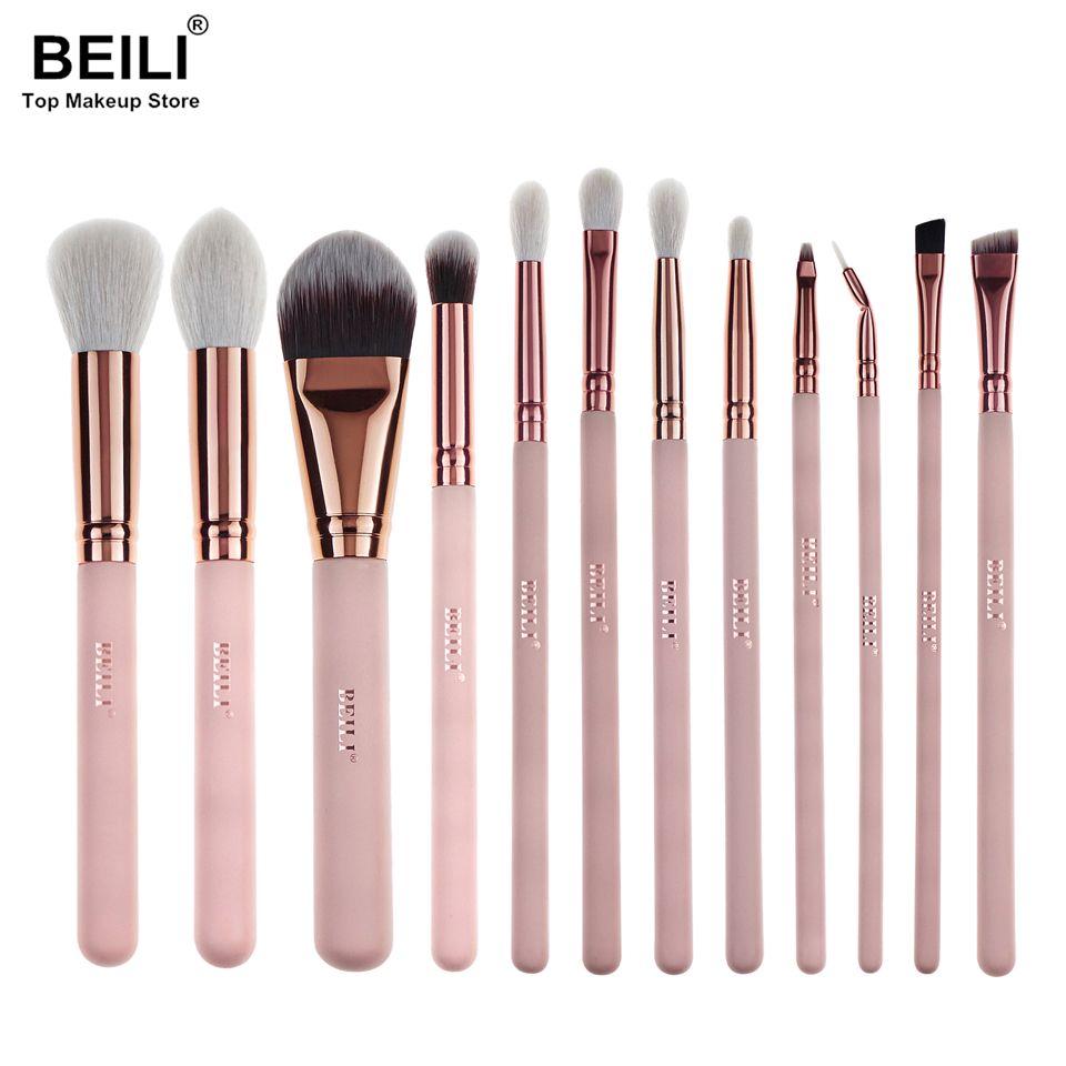 2017 Beili New Style 12pcs Complete Makeup Brush Set Professional