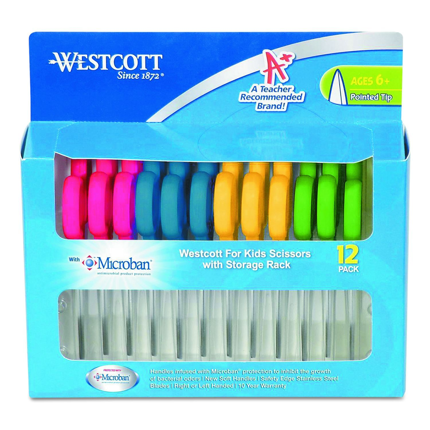 Westcott Kids Scissors with Antimicrobial Protection