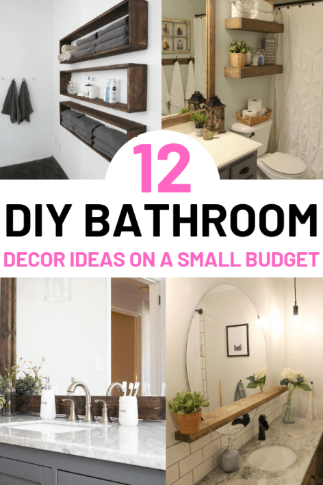 12 Diy Bathroom Decor Ideas On A Budget You Can T Afford To Miss Out On Diy Bathroom Decor Renters Decorating Diy Bathroom