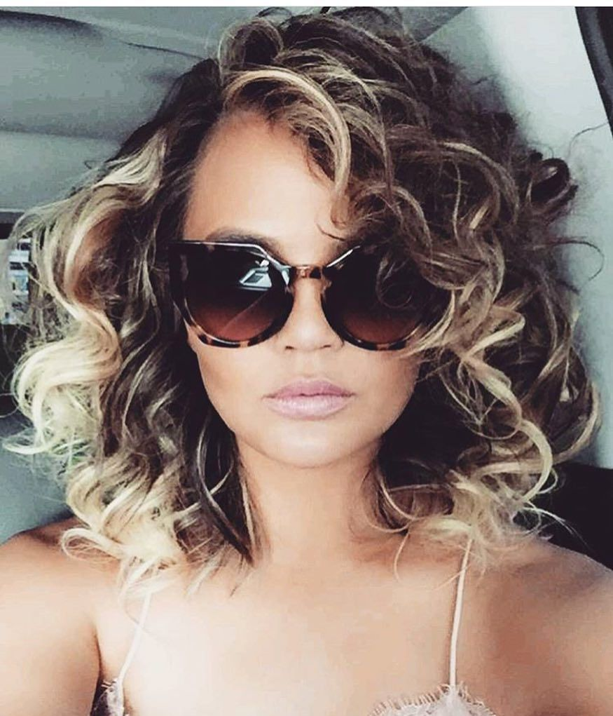 You NEED to See Chrissy Teigen With UberCurly Hair  Hair