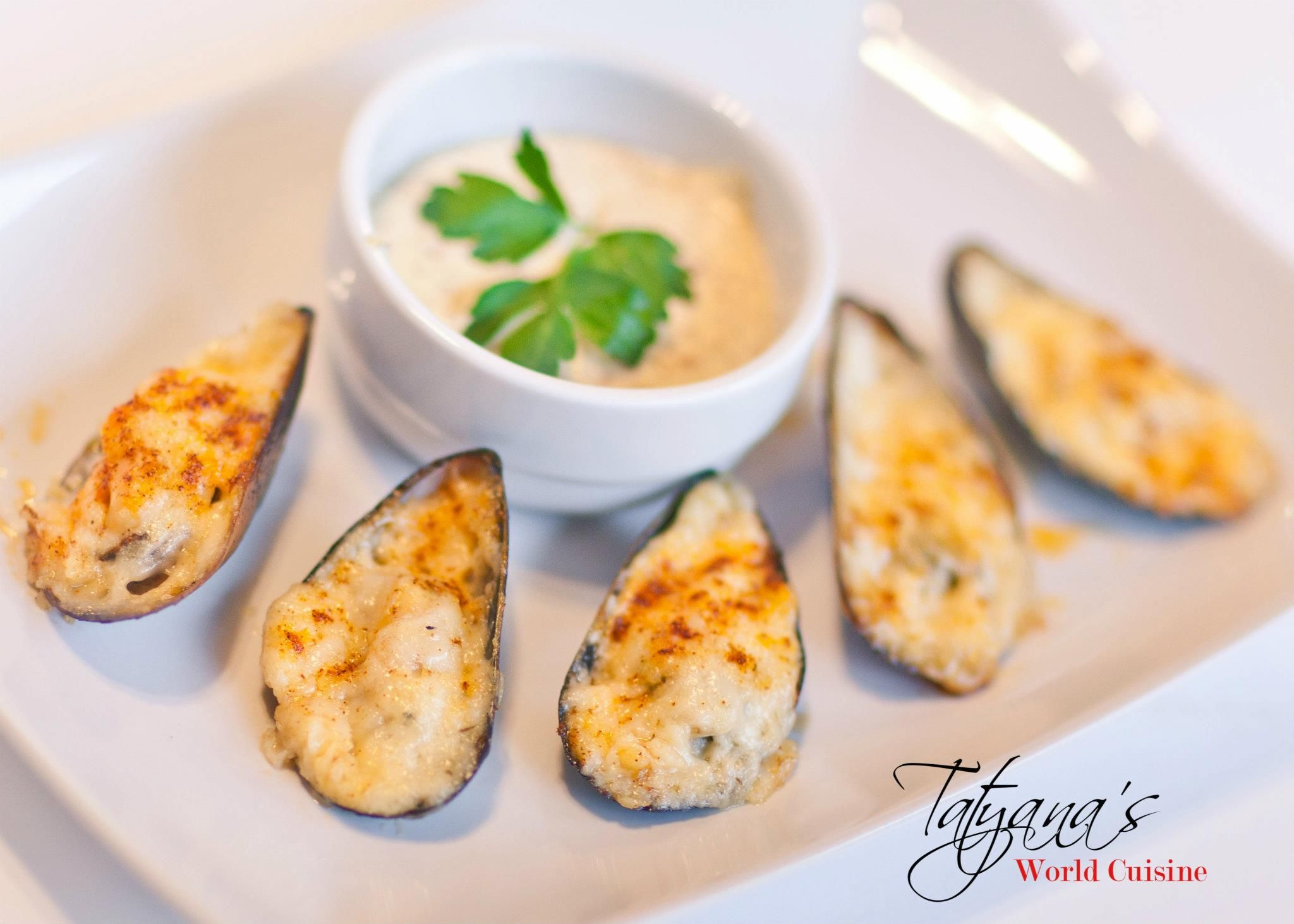 Cheesy Baked Mussels. 2 pounds fresh mussels, cleaned and ...