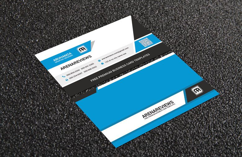 free creative clean minimalist business card template download