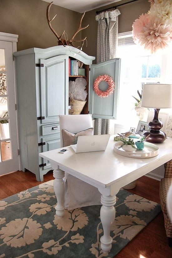 work office decorating ideas fabulous office home. Antler Décor-12 Fabulous Styling Ideas For This Hot Trend {The Nesting Place} Work Office Decorating Home O