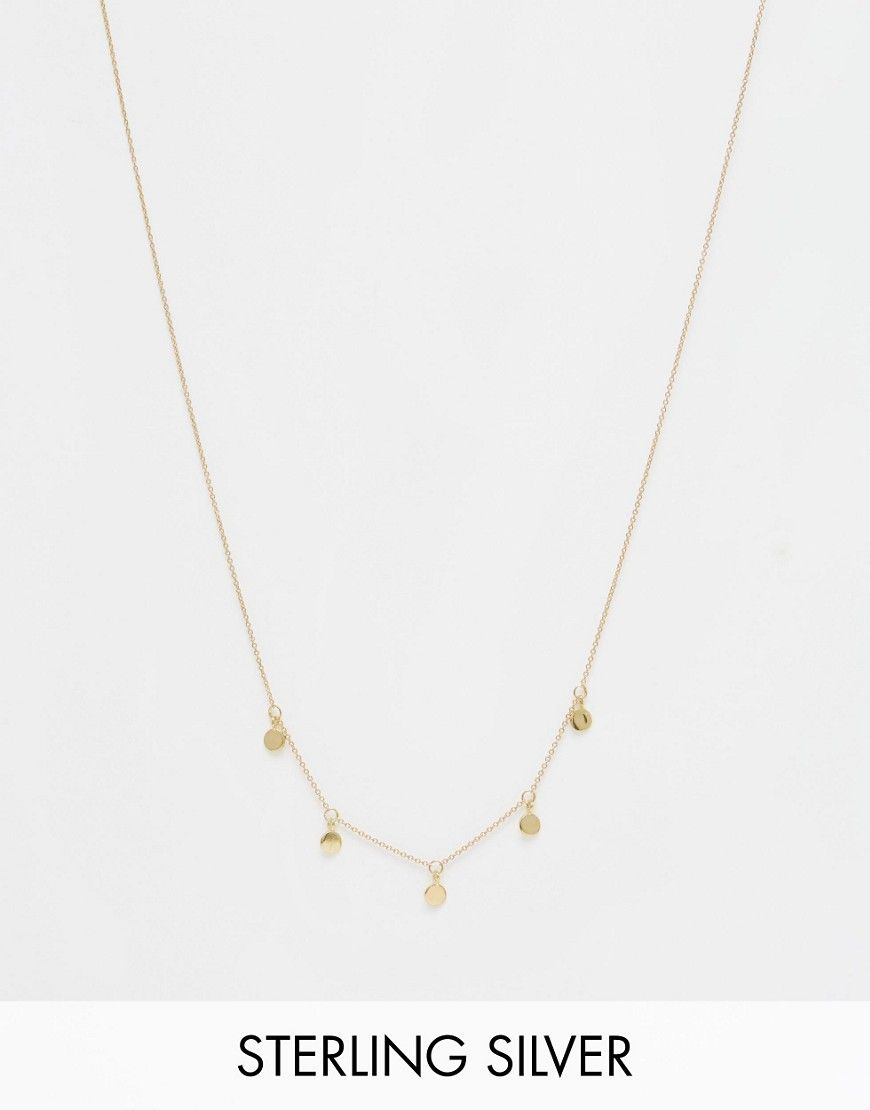 ASOS+Gold+Plated+Sterling+Silver+Mini+Coin+Necklace