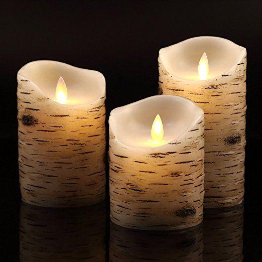 Led Kerzen Antizer Flammenlose Dekorations Kerzen Saulen Im 3er
