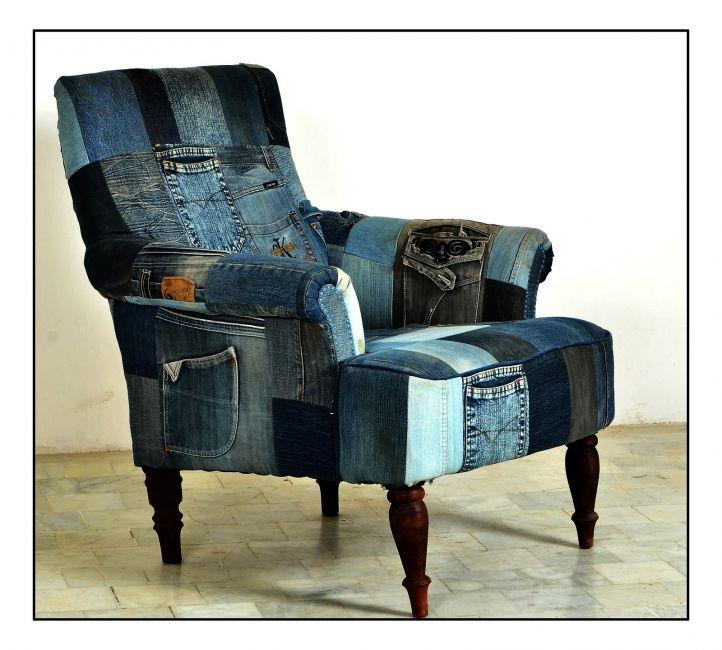 fauteuil denim | Fauteuil Denim rechte rug Chesterfield Dealz