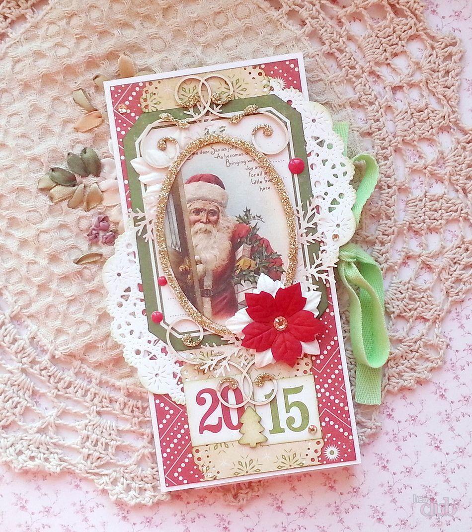 Новогодняя открытка скрапбукинг распечатать