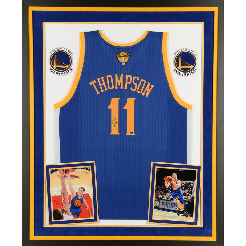 Klay Thompson Golden State Warriors Fanatics Authentic Deluxe Framed Autographed Blue Finals Swingman Jersey