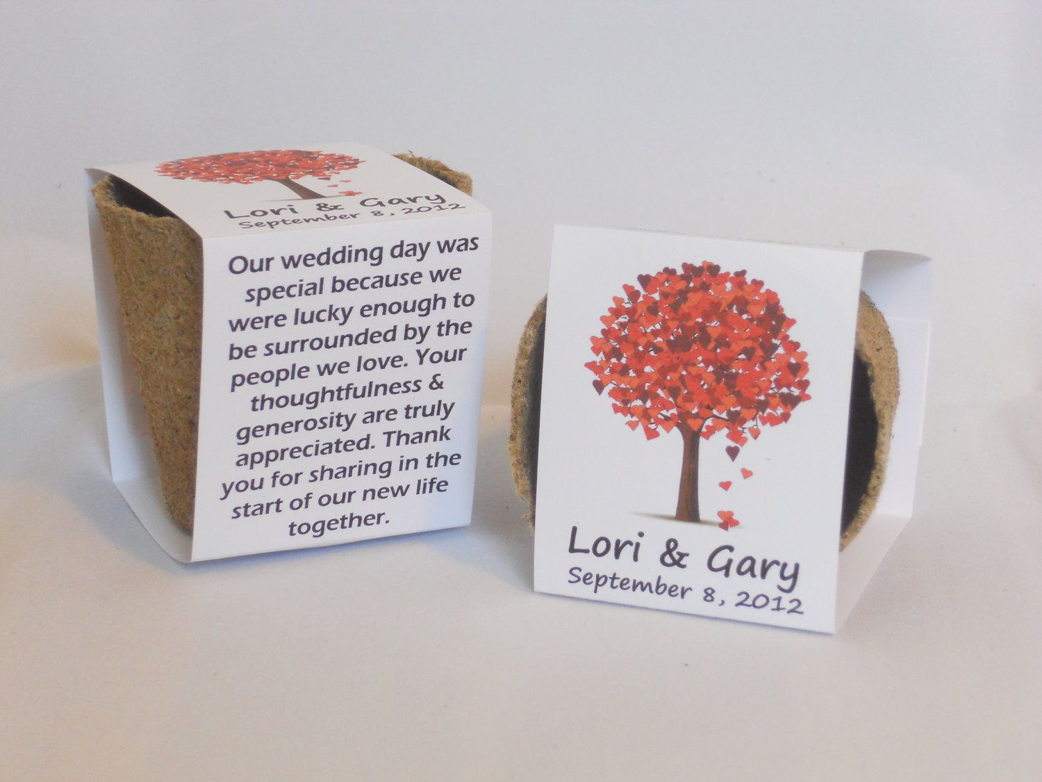 Fall Wedding Favor Plantable Seed Cups. $2.50, via Etsy. | Here ...