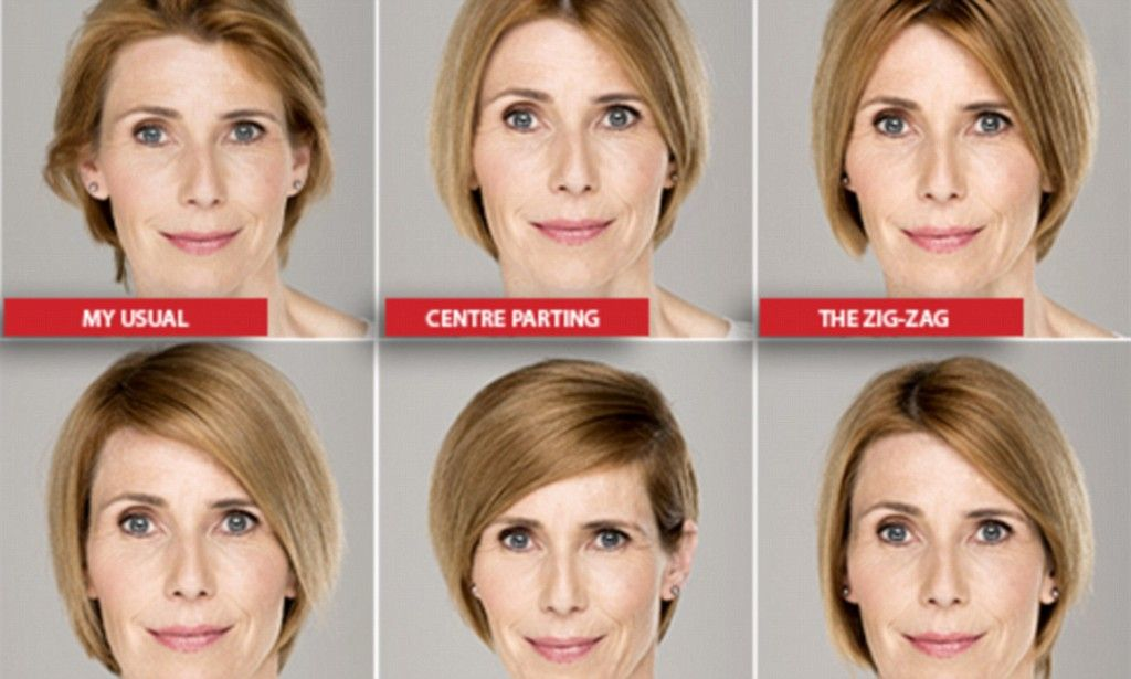 How To Take Five Years Off Your Face Just By Changing Your Parting Parting Hair Change Hair Damp Hair Styles