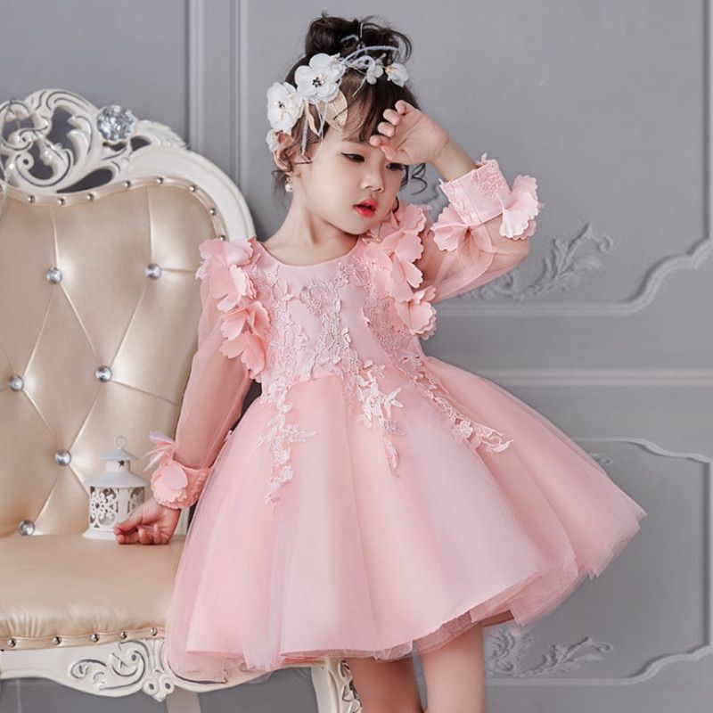 dd54f01ef Girl Dress Party Birthday Wedding Princess Toddler Baby Girls ...